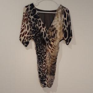 Arden B Leopard Print Blouse S